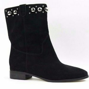 Michael Kors Hayes black booties with studs